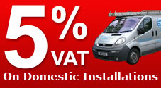 5% VAT on domestic installations